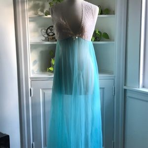Vintage Peignoir and Lace Nightgown